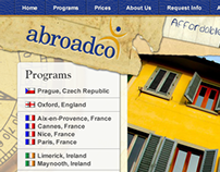 AbroadCo website redesign