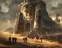 The eagle temple ruins