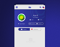Daily UI Challenge 9: Behance App