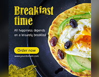 Free Breakfast Time Web Banner Set