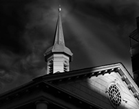 Churches Black and White