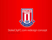 StokeCityFC.com redesign concept