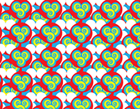 Shoujo spin cute animal pattern