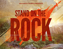 Stand on the Rock Church Flyer Template