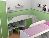 Projeto Interior Quarto Infantil