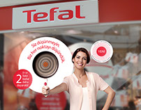 Tefal shop window for Intensium