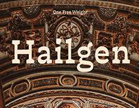 Hailgen Typeface
