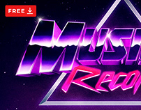 [FREE PSD] SYNTHWAVE 80S TEXT AND LOGO EFFECT TEMPLATE