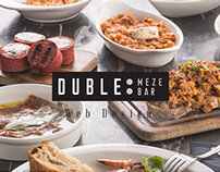 Duble Meze Bar Elegant Food And Restaurant Web Design.