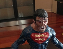 Creating Superman Sculpture WIP