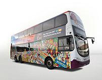 One Katong Mall (ONEKM) Bus Wrap & Newspaper Ad