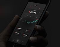 Xapo app - DARK UI mockup