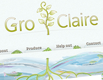 Gro Claire Website Design