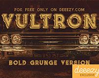 Free Font - Vultron Bold Grunge