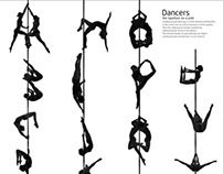 Dancers: the Typeface On a Pole