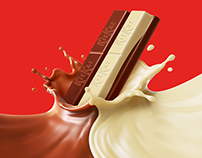 KitKat Duo - CG chocolate splash