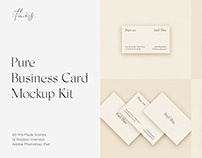 Pure Business Card Mockup Kit Scene Creator PSD