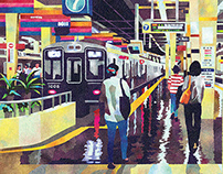 ある日の梅田駅