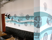 Jurassic Coast wall mural for Zizzi Dorchester