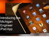 Michigan Engineer iPad App launch video