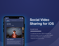 Social Video Sharing for iOS UX/UI App Design