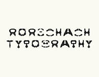 rorschach typography