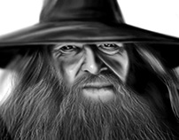 The Hobbit - Gandalf made in Photoshop cs6