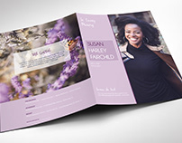 Pastel Purple Memorial Funeral Program Large Word