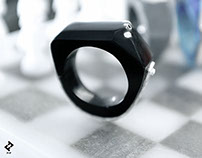 +heptágono・Ring (Black)