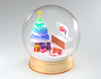 Sky Q Christmas globe exploration