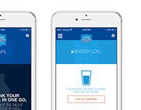 Aquafina Mobile App Screens
