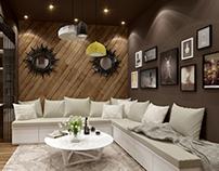 little duplex:upstairs(multi-function room)