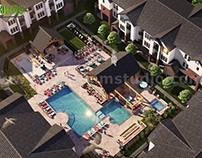 Architectural Design Outsourcing of Bird's Eye view for