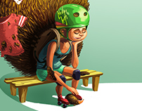 Roller derby character
