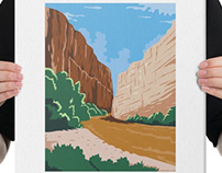 Big Bend National Park of Rio Grande Texas WPA Poster