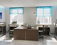 Airlines office interior visualizations