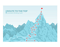 Route to the top mounting climbing