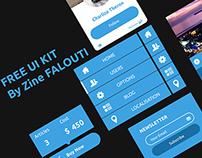 Free UI KIT by Zine FALOUTI