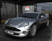 James Bond Parking MI6. Aston Martin Vanquih.