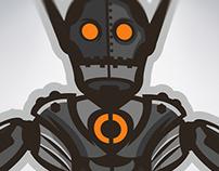 'NateBot' Mascot Logo