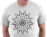 Trippy Star Grunge T-Shirt Vector Design