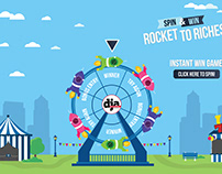 Rocket To Riches Spin & Win Game