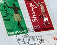 Orishas Postage Stamps