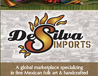 DeSilva Imports business cards and brochure