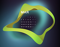 Screen calendar 2018