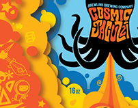 BrewLink Brewing - Cosmic Jacuzzi IPA Can Design