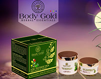 Body Gold Banner and Product Mockup Acne Treatment Pack