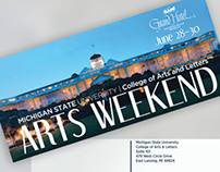 Arts Weekend // Postcard Design