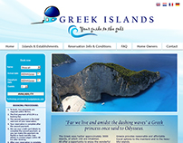 Web design · The Greek Islands