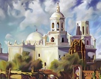 Mission of San Xavier Painting
